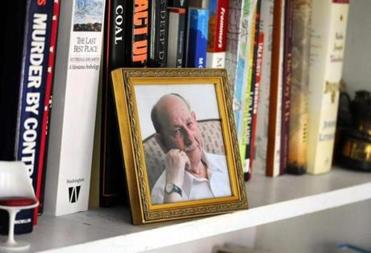 A picture of Lieb in Susan's office.